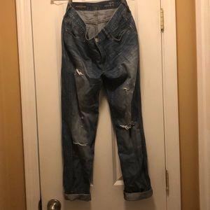 JCrew broken in boyfriend jeans